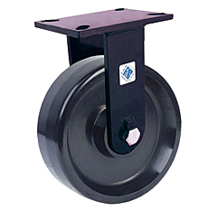 "76 Series Rigid Caster - 10"" x 3"" Solid Urethane Wheel - 3,000 lb. Cap."