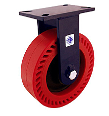 "76 Series Rigid Caster with 8"" x 3"" Omega Wheel and 1,600 lb. Capacity"
