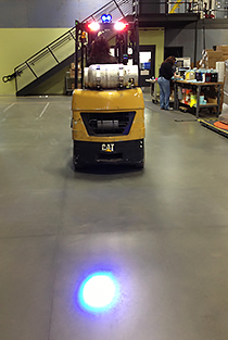 Forklift & Vehicle Approach Warning Light - LED Blue, with Mounting Magnet
