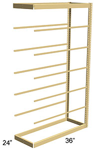 Single Rivet Shelving, Adder, 36w x 24d x 84h, 7 shelves