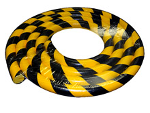 Round Edge Protector, Slide-on - 1-9/16-in. x 16-ft. Roll, Non-Adhesive, Black & Yellow