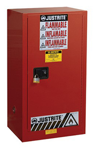Paint & Ink Combustibles Cabinet - 44 x 23.25 x 18 - 1 door, manual w/ Sure-Grip Handle, 20-gal.