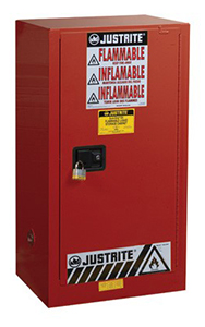 Paint & Ink Combustibles Cabinet - 44 x 23.25 x 18 - 1 door, self-close w/ Sure-Grip Handle, 20-gal.