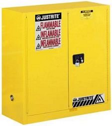 Safety Cabinet - 44 x 43 x 18, 30-gal., 1-shelf, Sure-Grip Handle, 2 door, manual