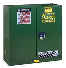 Pesticides Safety Cabinet - 65 x 43 x 18- 2 door, manual w/ Sure-Grip Handle, 45-gal.