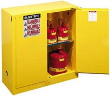 Safety Cabinet - 44 x 43 x 18, 30-gal., 1-shelf, Sure-Grip Handle, 2 door, self-close