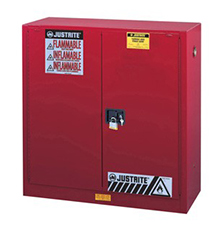 Paint & Ink Combustibles Cabinet - 44 x 43 x 18 - 2 door, self-close w/ Sure-Grip Handle, 40-gal.