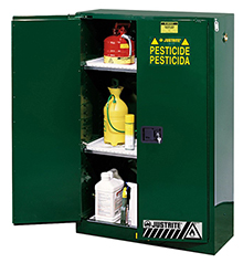 Pesticides Safety Cabinet - 65 x 34 x 34 - 2 door, manual w/ Sure-Grip Handle, 60-gal.