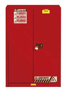 Paint & Ink Combustibles Cabinet - 65 x 43 x 18 - 2 door, self-close w/ Sure-Grip Handle, 60-gal.