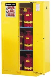 Safety Cabinet - 65 x 43 x 34, 90-gal., 2-shelf, Sure-Grip Handle, 2 door, self-close