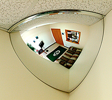 "Quarter Dome Mirror - 32"" dia."