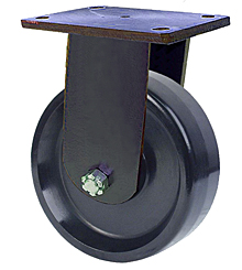 "95 Series Rigid Caster - 12"" x 3"" Phenolic Wheel - 3,500 lb. Cap."