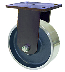 "95 Series Rigid Caster with 6"" x 2-1/2"" Forged Steel Wheel and 5,000 lb. Capacity"