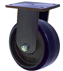 "95 Series Rigid Caster - 6"" x 3"" Urethane on Iron Wheel - 2,000 lb. Cap."