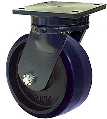 "95 Series Swivel Caster - 16"" x 4"" Urethane on Iron Wheel - 6,000 lb. Cap."