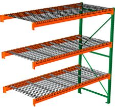 "Pallet Rack with Wire Decking - Adder, 3 Beam Levels - 96""w x 36""d x 120""h - 4000 Cap. Beams"