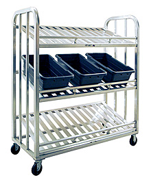 "Aluminum Picking Cart - 3 Tier, 59""W x 67-1/2""H x 26""D"