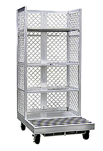 "Aluminum Cart for Order Pickers w/3 Adj. Shelves - Toyota, 40""W x 88""H x 48""L"