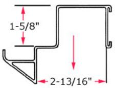 "9"" wide Low Profile Step Beam Hanger for 2¾"" beam"