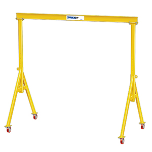 "Steel Gantry Crane - 2 Ton Cap., 18' 10"" Clear Span, 10' Under Beam Ht., A-Series"