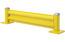 Steel Guard Rail - Single High Starter - 9 ft. W at post centers x 12 in. H