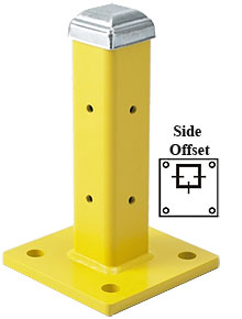 "12"" Side offset Post with Cap, Single High"