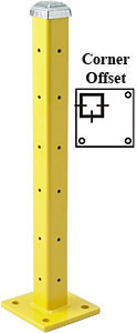 "42"" Corner Offset Post with Cap, Triple High"
