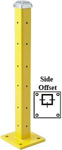 "42"" Side offset Post with Cap, Triple High"