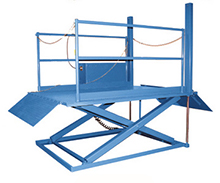 Surface Mounted Dock Lift with 6ft x 8ft platform - 5500 lb. Capacity - built in power unit