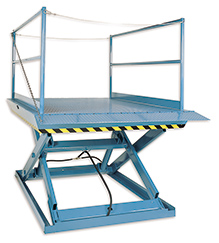 Pit Mounted Dock Lift with 6' x 8' platform - 5000 lb. Capacity