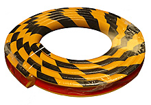 Protective Corner Bumper Guard - Round, 1-9/16-in. x 16-ft. Roll, Self-Adhesive, Black & Yellow