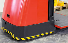 "Flat Surface Bumper Guard - Flat, 1-9/16"" x 7/16"" x 39-3/8"", Self-Adhesive, Black & Yellow"