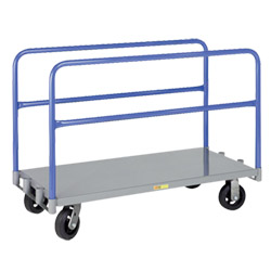 "Adjustable Sheet & Panel Truck Truck w/ Mold-On Rubber Casters - 24"" x 48"""