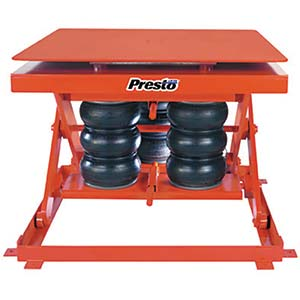 "Heavy-Duty Rotating Pneumatic Scissor Lift, 48"" x 48"" Platform, 2000 lb. Cap."