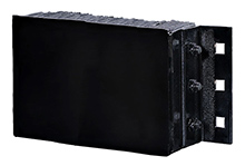 "Steel Faced Rubber Dock Bumpers - 12""H x 24""L x 6""D"