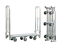 "Aluminum Folding Stock Cart - 18""W x 61""H x 61""L Unfolded"