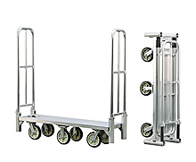 "Aluminum Folding Stock Cart - 18""W x 63""H x 61""L Unfolded"