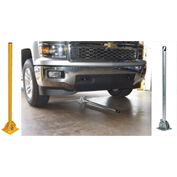 "Steel Folding Bollard - 42"" Raised Height 4"" Folded"
