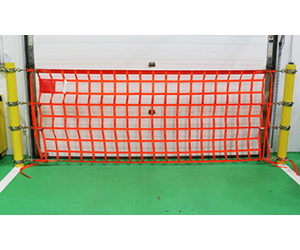 "Loading Dock Safety Net - Mounts to 4.625"" to 5.5"" Bollards - 4' H, 6'-32' L"