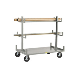 "Cantilever-Style Pipe & Bar Rack - 36"" x 60"" - Wheel Brakes"