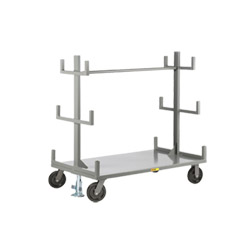 "Cantilever-Style Pipe & Bar Rack - 36"" x 60"" - Floor Lock"