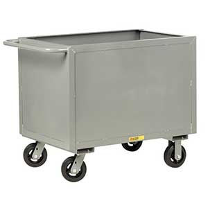 "4-Sided Solid Box Truck - Low Profile, 30"" x 48"" Deck, 6"" Rubber Casters"
