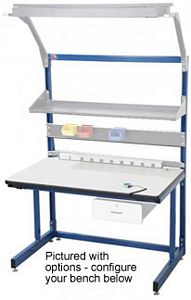 "Workstation - Basics Type, Starter, ESD Laminate, 60""L x 30""W Top"