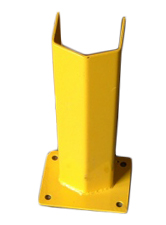 "Bolt-Down V-Face Post Protector, 24""H, 5-1/2""clearance"
