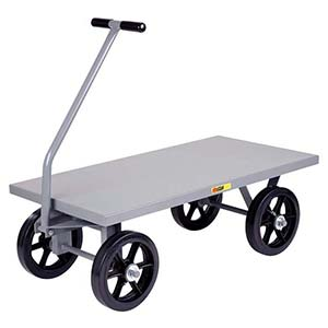 "5th Wheel Wagon - 24"" x 48"" Flush Deck, 12"" Mold-on Rubber Wheels, 3500 lb. Cap."