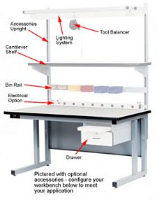"Workbench - Cantilever-Style,  ESD Laminate Top, 72""L X 36""W"