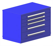 "Rack Engineering Modular Cabinet with (3) 3-7/8"", (1) 6-1/4"", (1) 7-1/16"" drawers - 45""W x 27-3/4""D x 32­1/8""H"