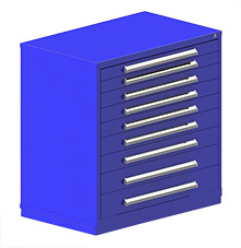 "Rack Engineering Modular Cabinet with (2) 3-1/16"", (3) 3-7/8"", (2) 4-5/8"", (1) 5-7/16"", (1) 6-1/4"" drawers - 45""W x 27-3/4""D x 46-1/8""H"