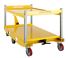 "6-Wheel Center Steer Trailer, Double Deck - 30""W x 60""L, 2,000 lb. Deck Cap."