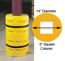 "Column Sentry 6"" square, 14"" diameter; 42"" tall"